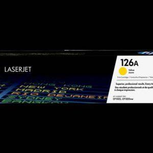 HP 126A (CE312A) Yellow Original LaserJet Toner Cartridge