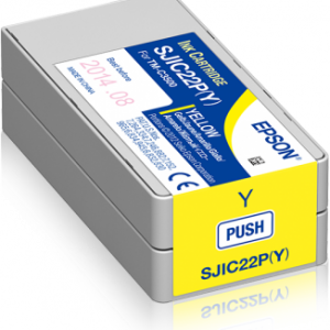 Epson SJIC22P Yellow Ink Cartridges (C33S020604)