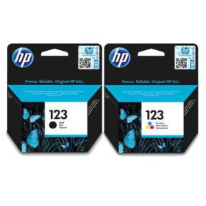 HP 123 Orignal Ink Cartridge Bundle (Black and Colour)