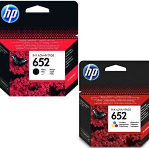 HP 652 Original Ink Cartridge Bundle (Black and Colour)
